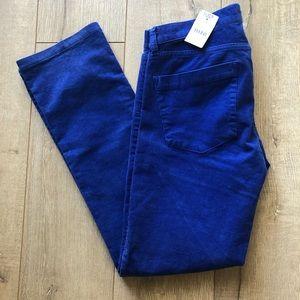 J Crew Pants Blue Stretch Vintage Cords Size 27